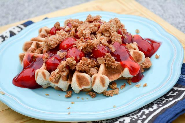 Cherry Crisp Waffles_1