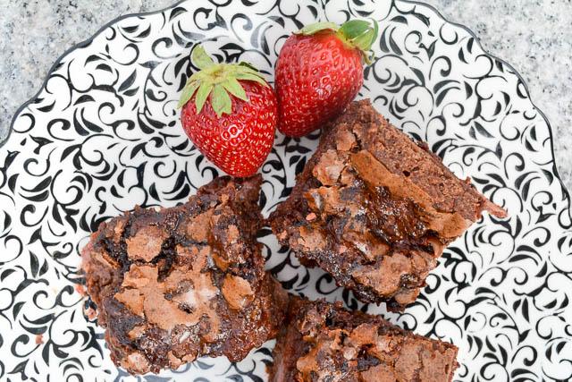 Fudgy Strawberry Brownies-2