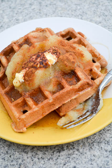 Whole Wheat Apple Sauce Waffles-2