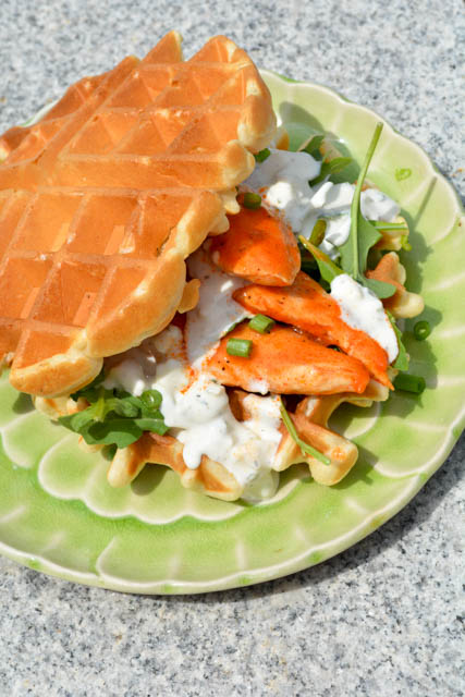 Buffalo Chicken Waffle Sandwich-2