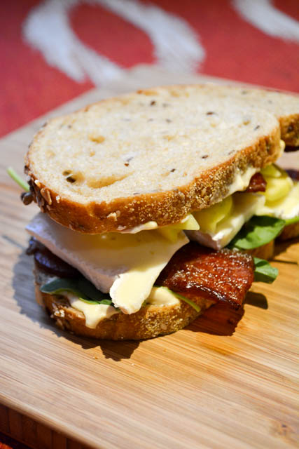 Bacon Apple Brie Spinach Sandwich-4