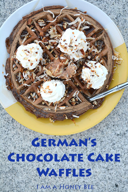German's Chocolate Cake Waffles