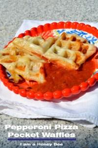 Pepperoni Pizza Pocket Waffles