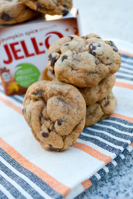Pumpkin Pie Spice Chocolate Chip Pudding Cookies