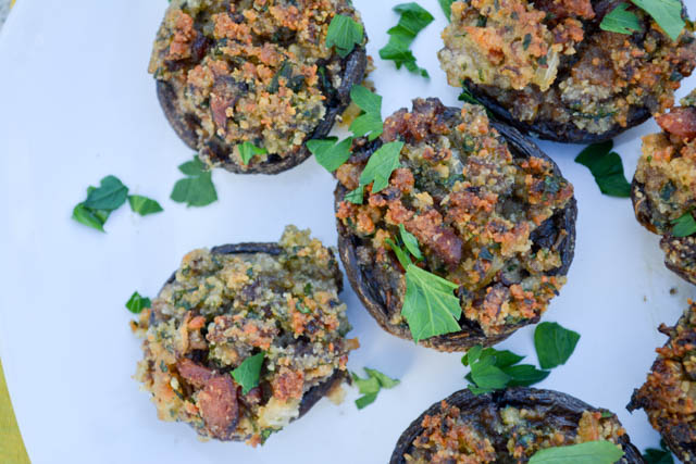 Bacon Stuffed Mushrooms-1