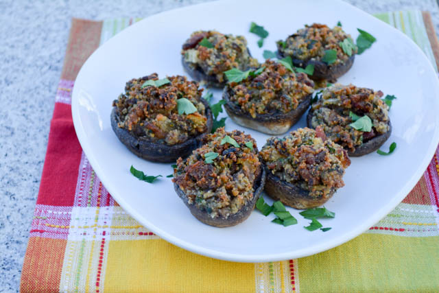 Bacon Stuffed Mushrooms-4