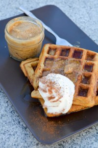 Oatmeal Waffle with Chai Infused Whipped Butter