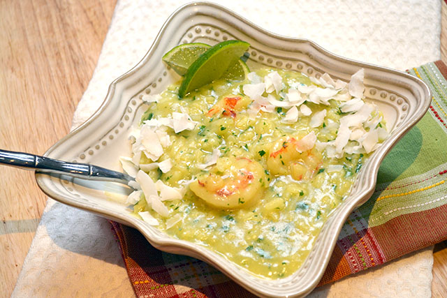 Shrimp and Curried Coconut Risotto_02