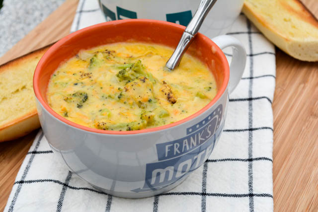 Broccoli Cheddar Soup for Two-1
