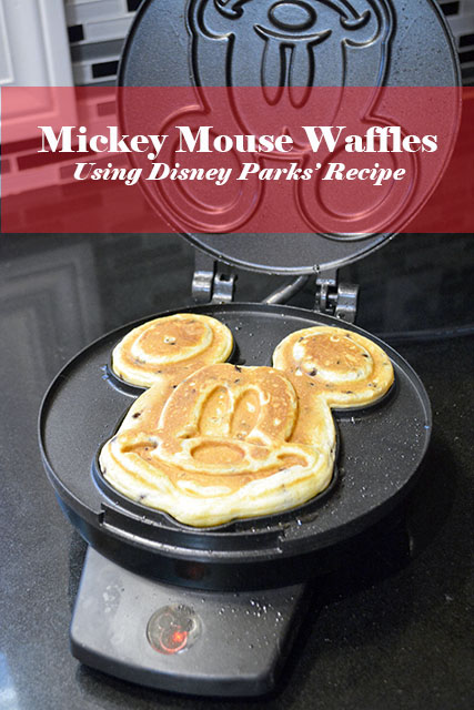Mickey Mouse Waffles