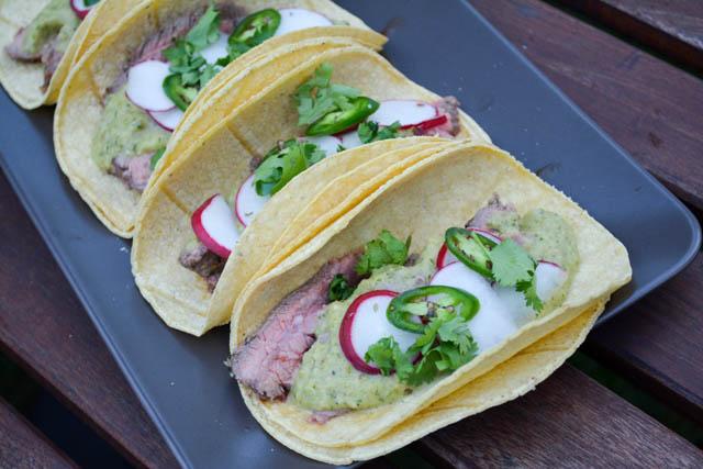 Carne Asada Tacos with Roasted Tomatillo Salsa-1