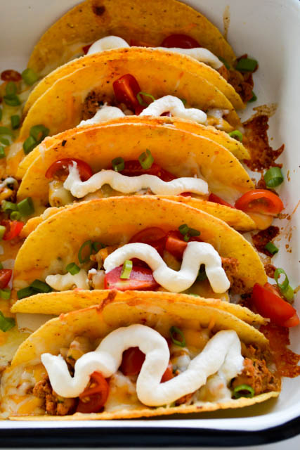 Extra Cheesy Baked Tacos