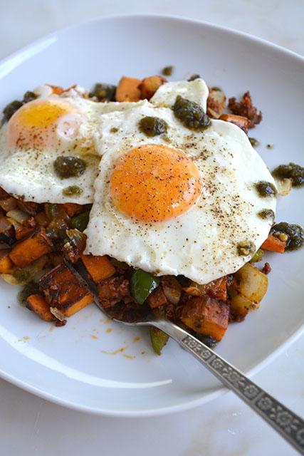 Chorizo and Sweet Potato Breakfast Hash_03