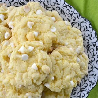 White Chocolate Chip Lemon Cake Mix Cookies