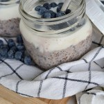 These Blueberry Overnight Oats fun and delicious way to enjoy your breakfast oatmeal. Layer the oats with yogurt and fresh, plump blueberries for a healthy breakfast parfait.