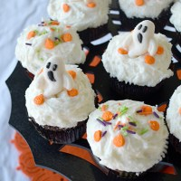 Caramel Filled Chocolate Halloween Cupcakes