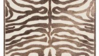 Zebra Print Brown Rug
