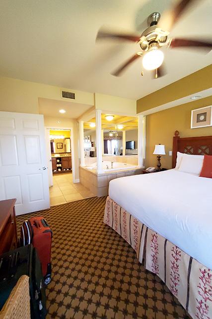 Westgate Resort- One Bedroom Grand Villa view from bedroom towards bathroom