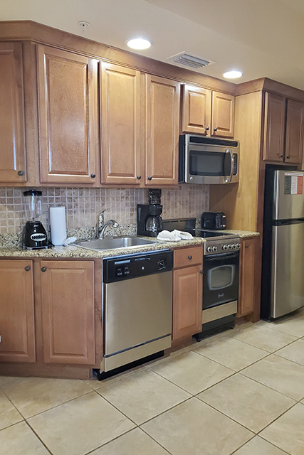 One-Bedroom Villa Kitchenette at Westgate Town Center