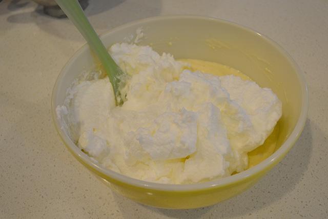 Folding Egg whites into pancake batter