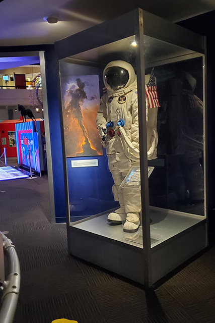 replica space suit at MOSH