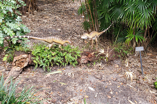 dinosaur statues at Leu gardens during Dinosaur Invasion