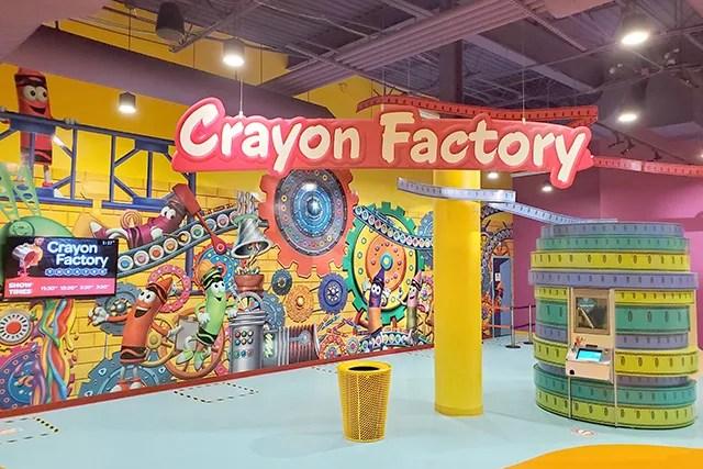 Crayon Factory interactive exhibit in Crayola Experience in Orlando FL