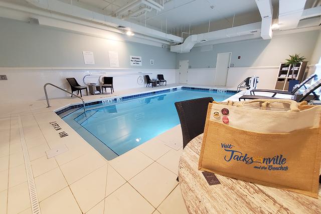 indoor swimming pool inside Sheraton in Jacksonville FL