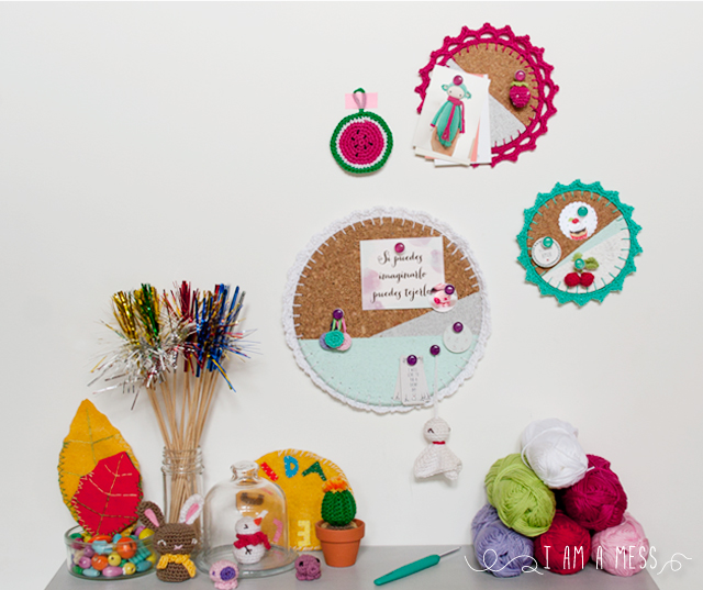 "DIY crochet board by ""I am a Mess"""
