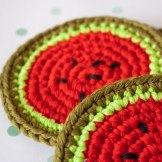 "crochet coasters by ""I am a Mess"""