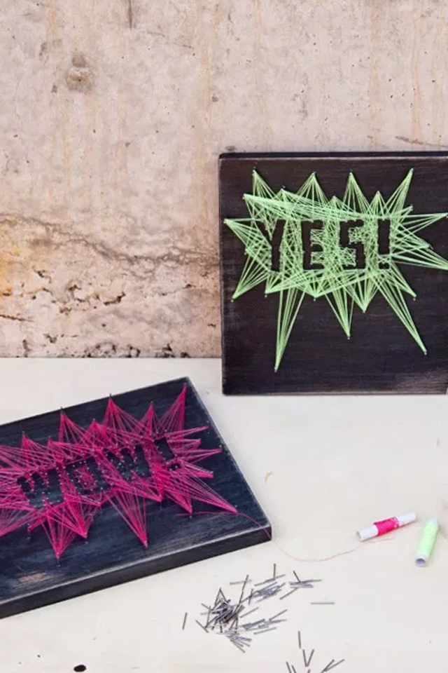 DIY: String art, visto en IamaMess blog