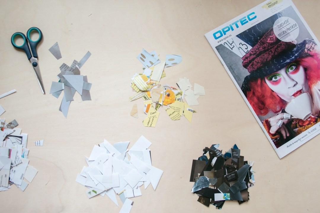 Cómo crear un pingüino con cartapesta: cortando el papel