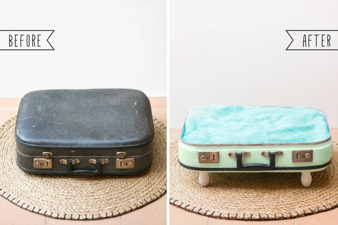 antes y después, de maletin a maletin cama para nuestros amigos peludos