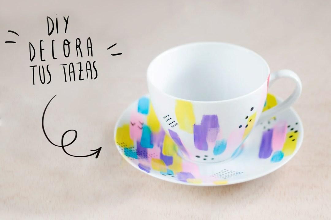 DIY: decora tus tazas con colores