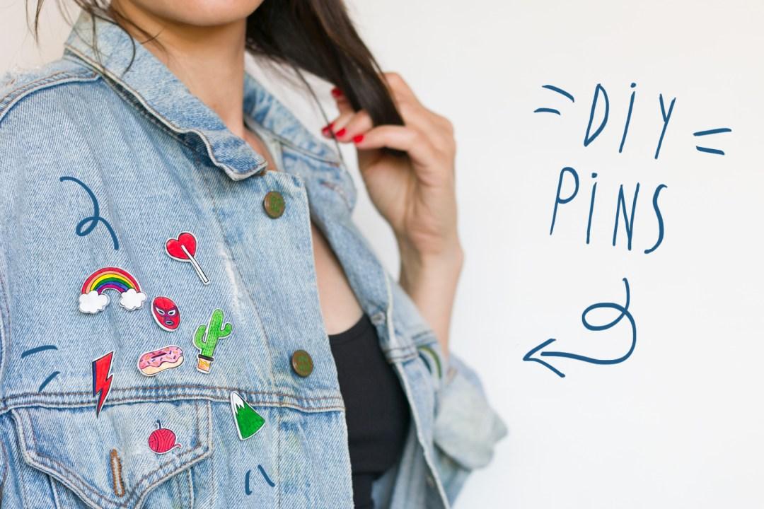 "Aprende a hacerte tus propios pins con ""I am a Mess Blog"""