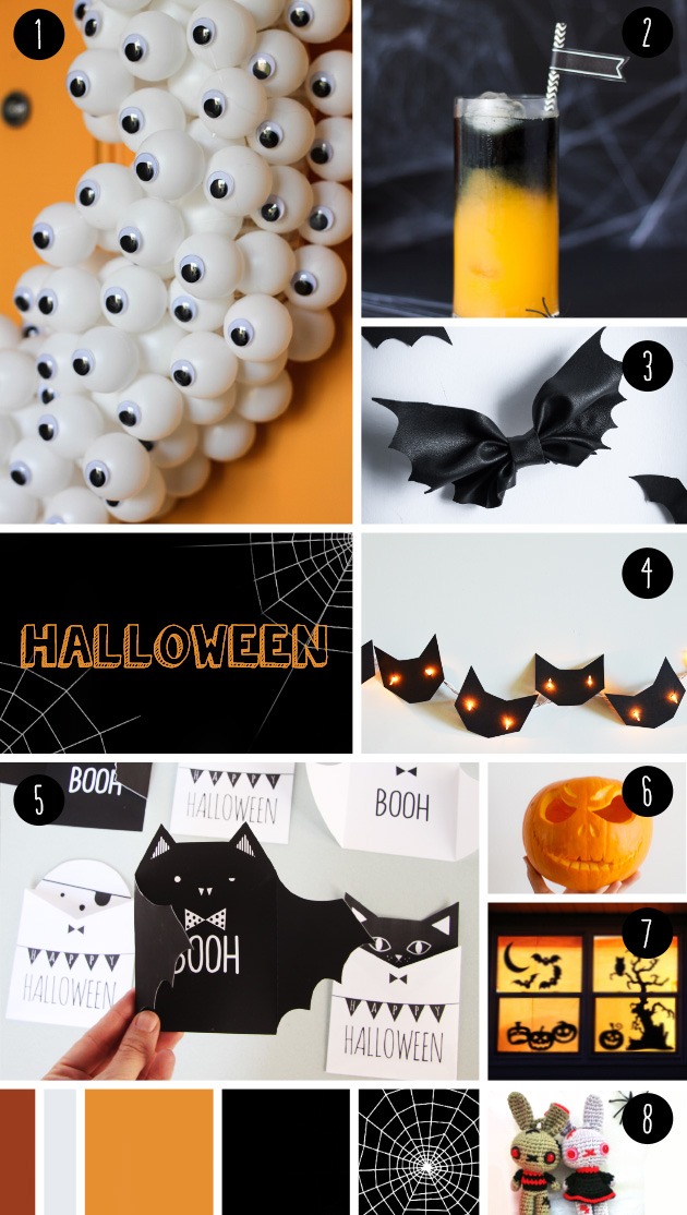 8 ideas DIY halloween party, visto en IamaMess blog