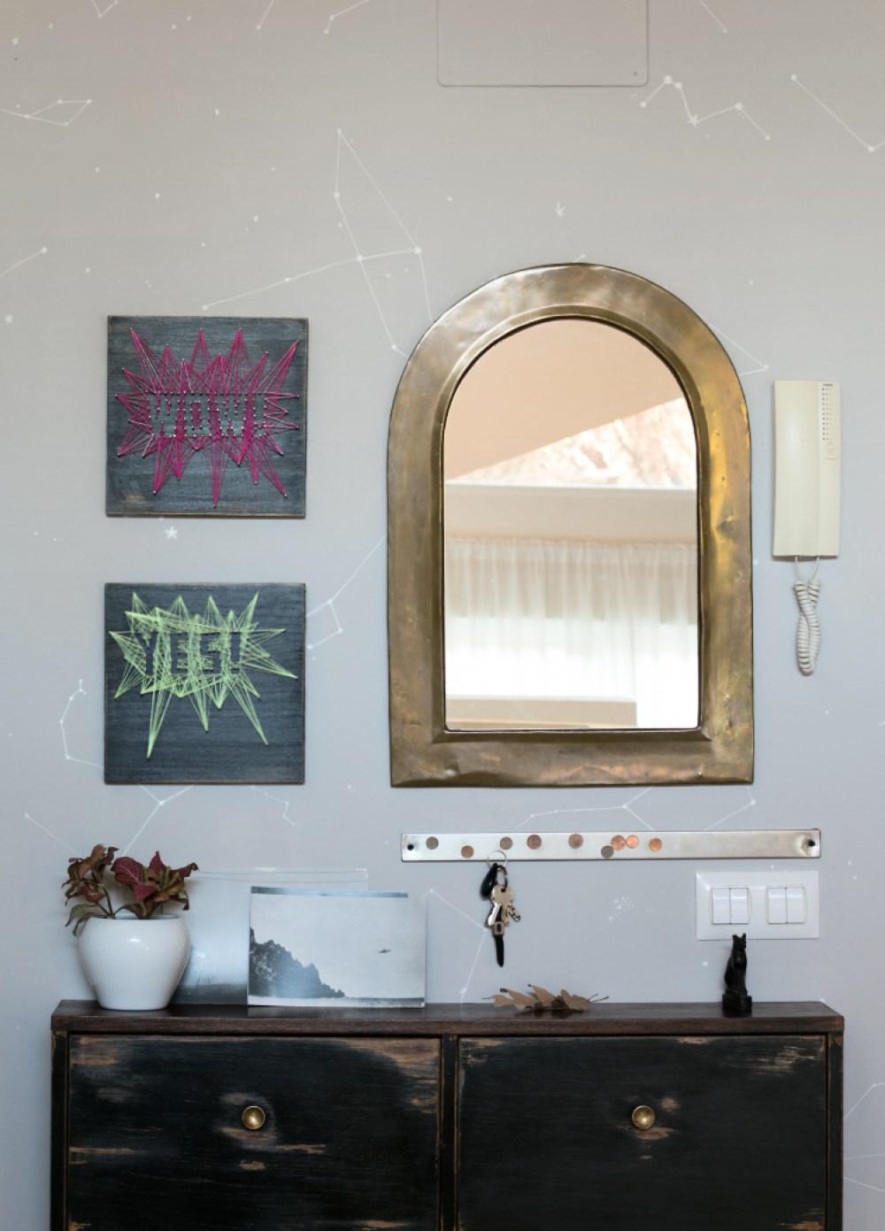 espejo de la entrada en VillaDesastre
