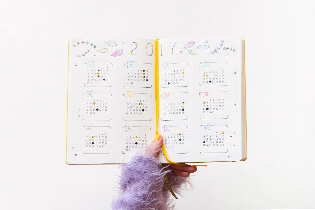 "Bullet Journal calendar - Leuchtturm, visto en ""I am a Mess Blog"""