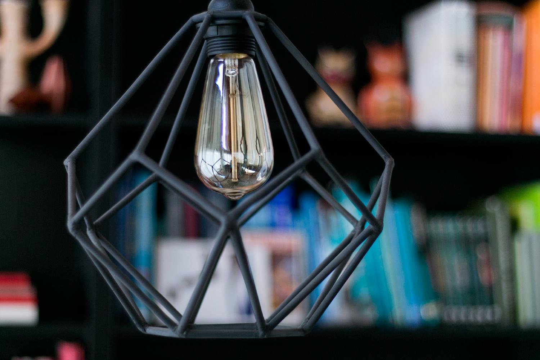 Lámpara geométrica DIY, visto en