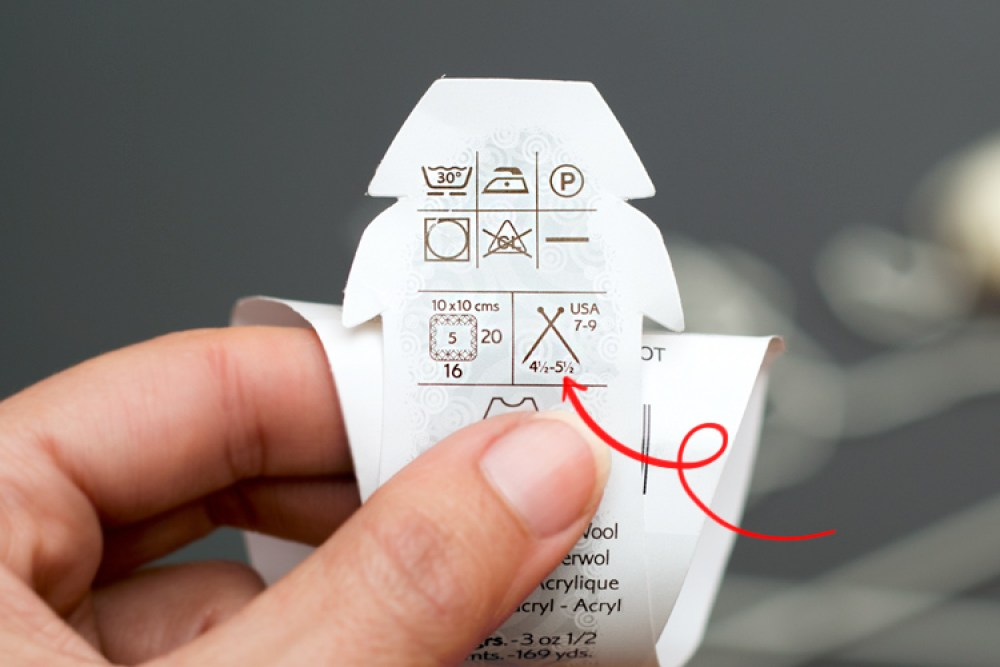 entender una etiqueta de lana