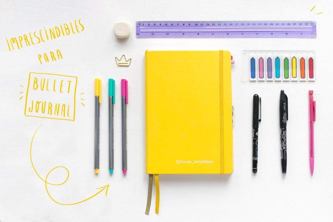"""Imprescindibles para el Bullet Journal, visto en """"I am a Mess Blog"""""""