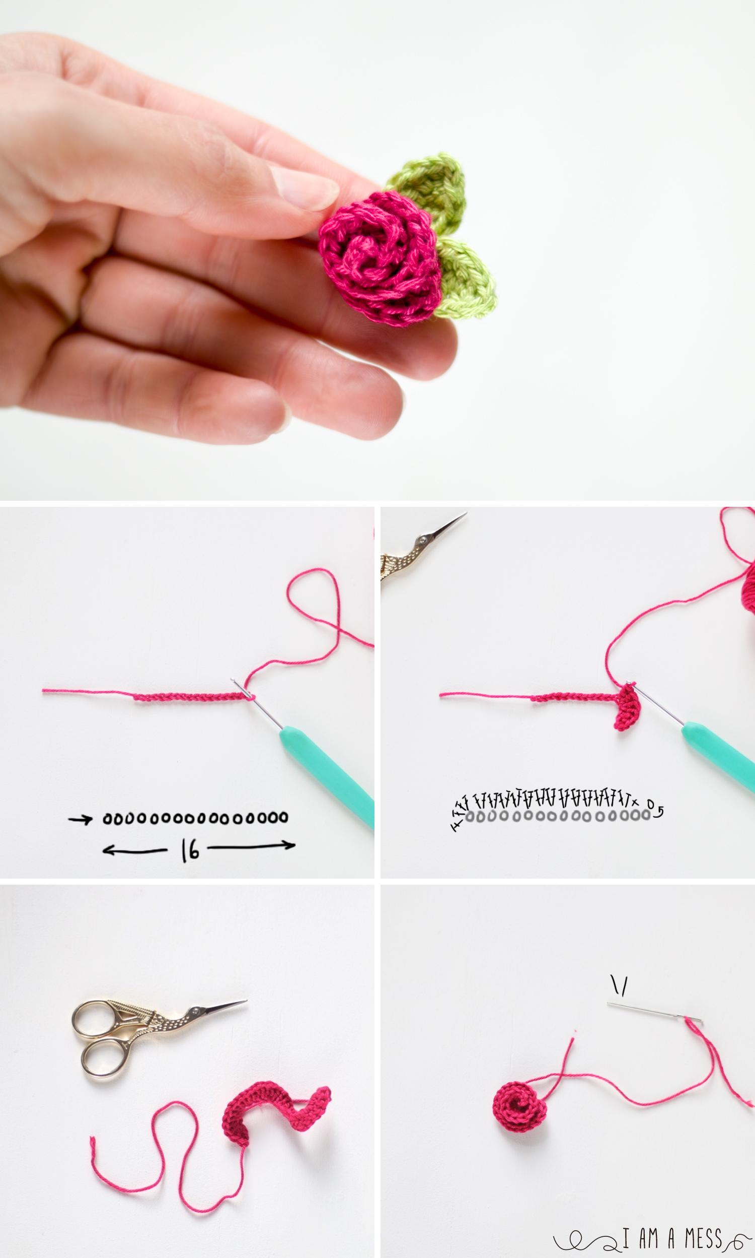 Patrón de tres fores de ganchillo muy fáciles de hacer
