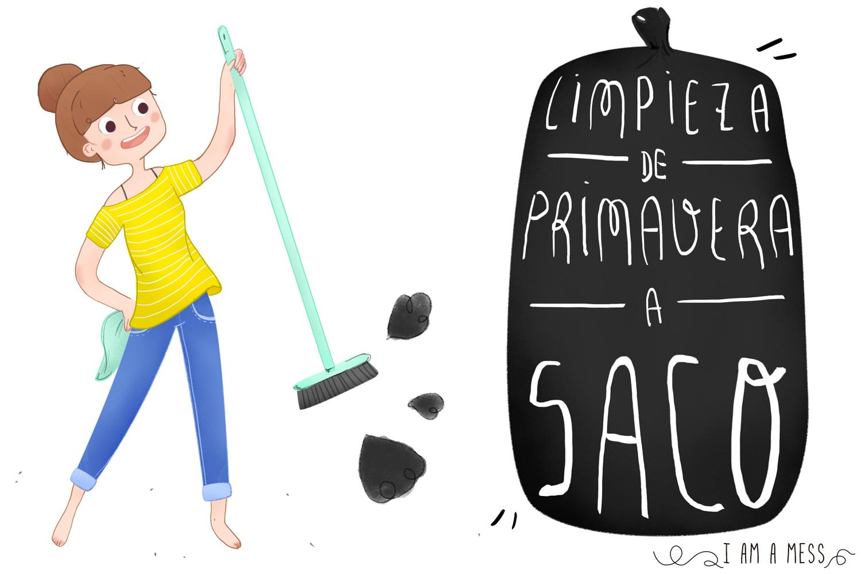 ilustración limpieza a saco