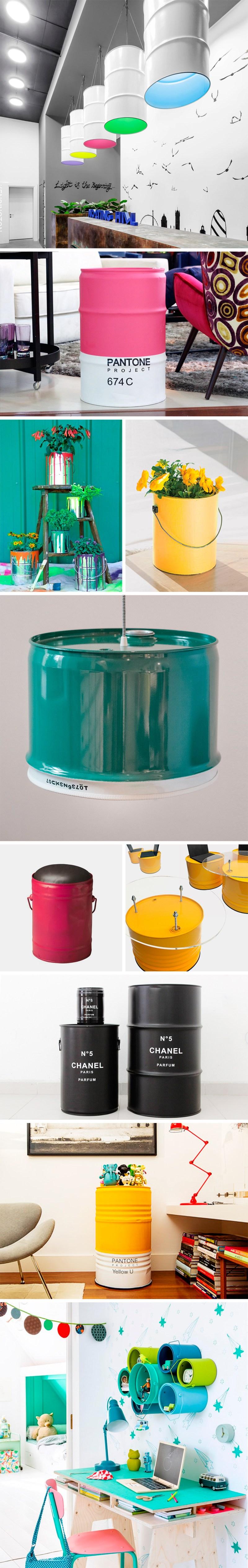 Inspiración upcycling. Qué haces con una lata grande (visto en IamaMessBlog)