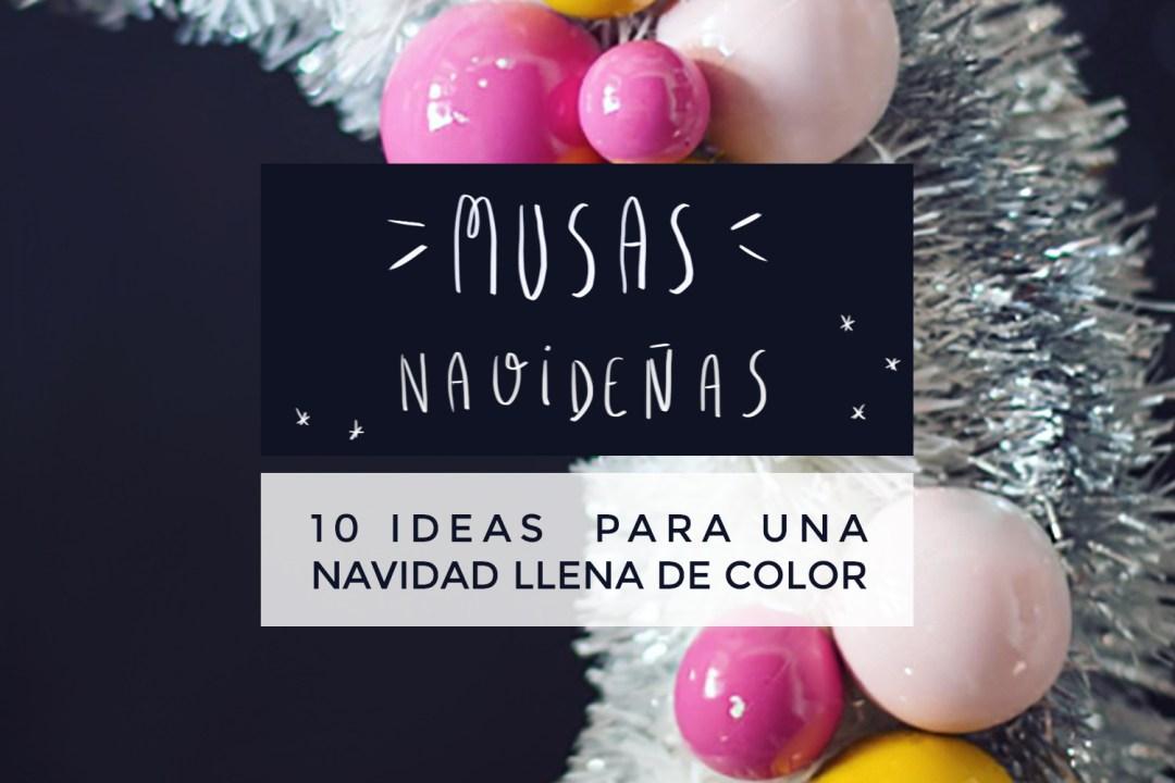 "inspiración navidad de colores, Visto en ""I am a Mess Blog"""