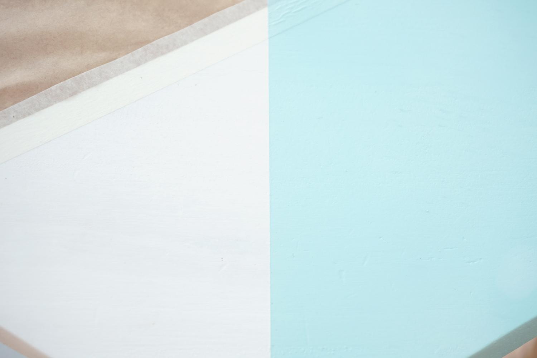 Paso 3, linea perfecta con cinta de pintor, visto en