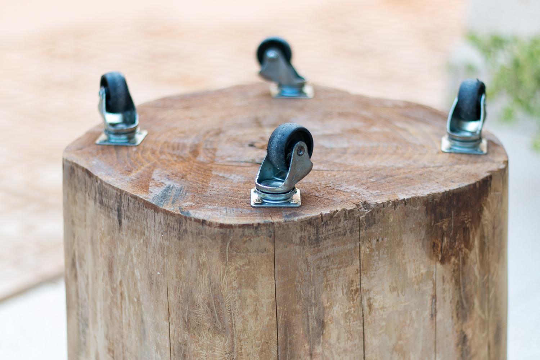 Cómo hacer una mesita con un tronco diy, paso 3, visto en