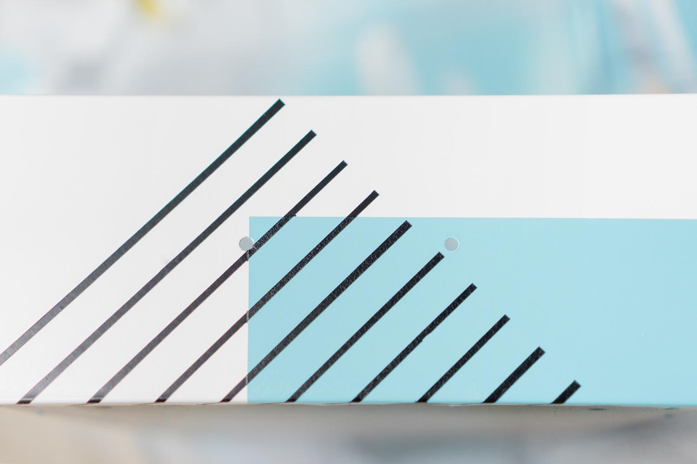 Motivo geometrico en cajón, visto en