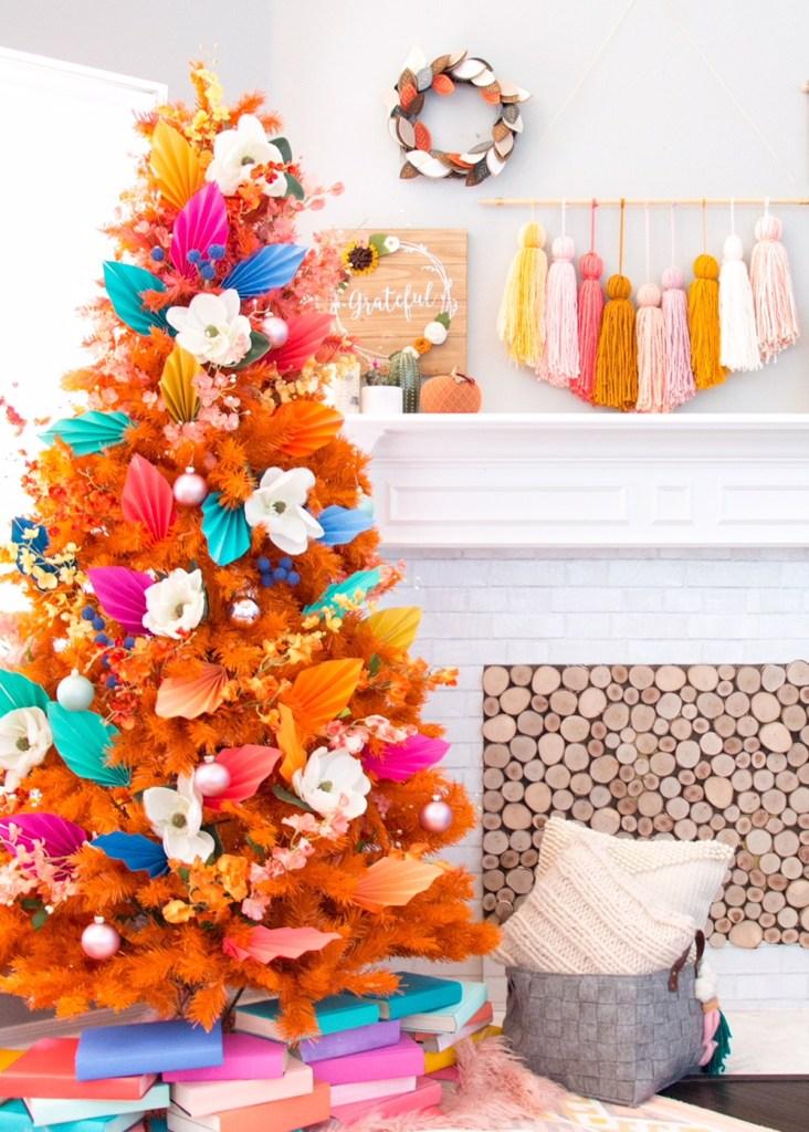"""Inspiración: Árboles de navidad naranja. Visto en """"I am a Mess Blog"""""""