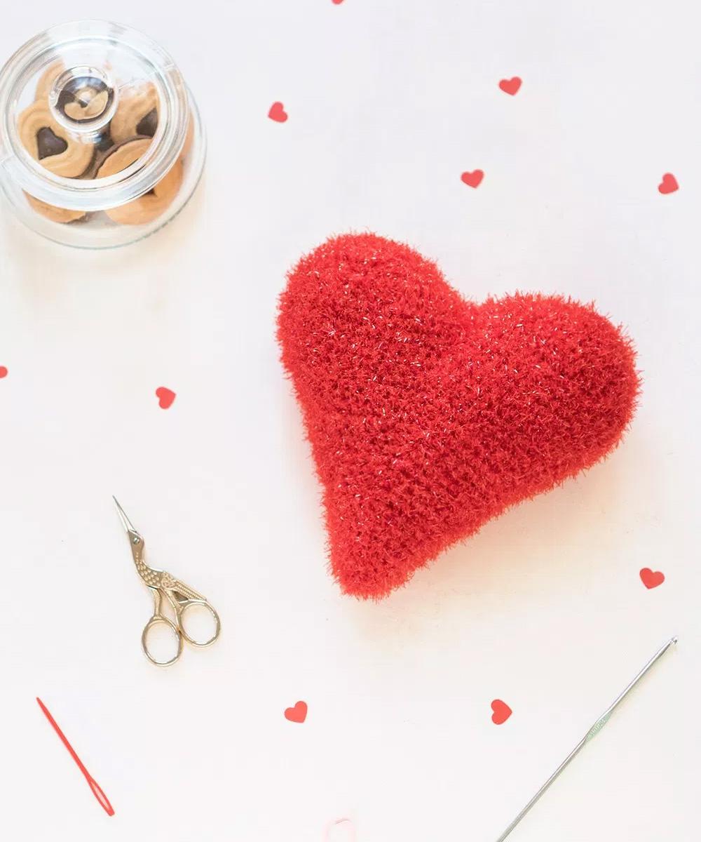 Corazón de ganchillo